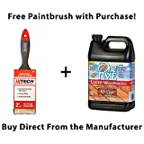 One TIME Red Cedar Wood Stain & Sealer 1 Gallon Size