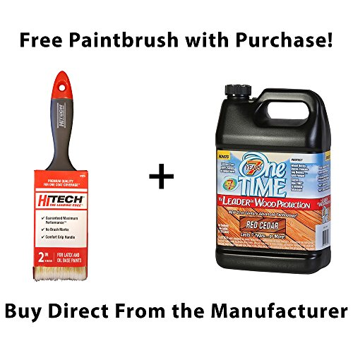 One TIME Red Cedar Wood Stain & Sealer 1 Gallon Size ()