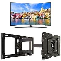 Samsung UN65KU7500 Curved 65-Inch 4K Ultra HD Smart LED TV + AmazonBasics Articulating TV Wall Mount
