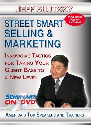 Street Smart Selling & Marketing - Innovative Tactics for Increasing Sales - Seminars On Demand - Motivational Business Training Video - Speaker Jeff Slutsky - Includes Streaming Video + DVD + Streaming Audio + MP3 Audio - Compatible with All Devices