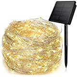 ANTOOR Solar String Lights 72ft 200LED Outdoor String Lights, Waterproof Fairy Lights for Patio,Lawn,Garden,Wedding,Christmas, Party(Warm White)