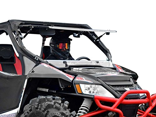 Arctic Cat Windshield - SuperATV Scratch Resistant 3-IN-1 Flip Windshield for Arctic Cat Wildcat 1000/4 1000 (2012-2017) - Hard Coated for Extreme Durability and Long Life - 3 Different Settings!