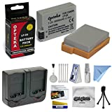 2 Extended Life Replacement Battery Packs For the Canon LP-E8 LPE8 2000MAH Each 4000MAH in Total For The Canon EOS Rebel T2i T3i T4i T5i 550D 600D 650D 700D Kiss X4 X5 X6 X6i X7i DSLR Digital Camera, 2 Batteries In Total + 1 hour AC/DC Dual Battery Rapid