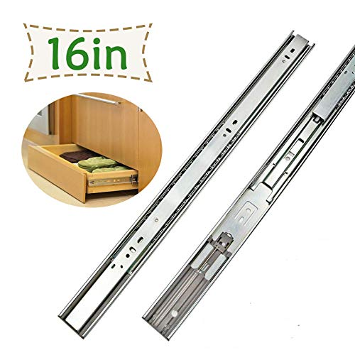 5 Pairs LONTAN Full Extension Drawer Slides 16 Inch Soft - Close Drawer Slides - SL4502S3-16 Cabinet Drawer Slides 16 Ball Bearing and Heavy Duty Drawer Slides 100lb Capacity ()