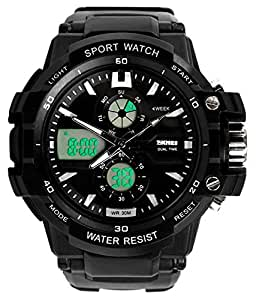 SKMEI Mens Black Digital &Analog Watch