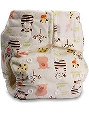 LittleBloom Bebé Pañales Lavables Pañal Reutilizable BAMBÚ, Cierre:Hook-Loop, Patrón 44, Sin Inserto