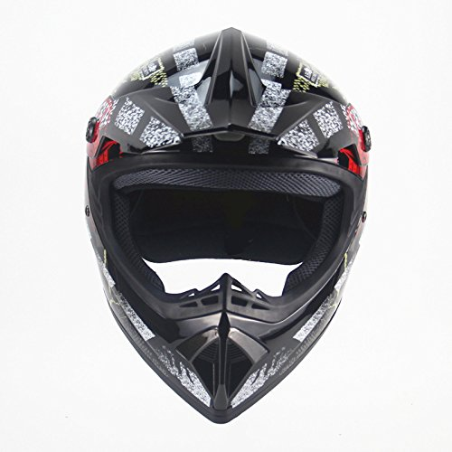 DUEBEL Casco de Motocrós de Calavera Pirata para BMX / Downhill / Cross-country / Motorcross (Pirate-Black, L): Amazon.es: Coche y moto