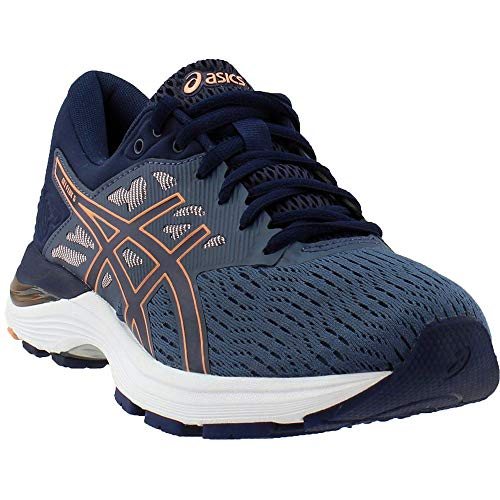 ASICS Gel-Flux 5 Blue/Canteloupe/Peacoat Women's Running Shoes (Asics Gel Energy)