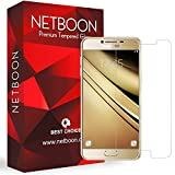 Samsung C5 Tempered Glass - NETBOON Branded 3D Tempered Glass HD Clarity Premium Quality Screen Protector, 9H Hardness, Ultra thin, Anti-Scratch Original Screen Protector Gorilla Glass Guard for Samsung Galaxy C5