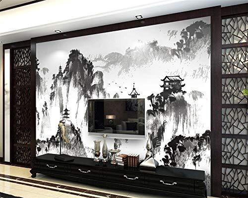 2019 Custom Wallpaper Ink Landscape Landscape Watercolor Living Room Bedroom TV Sofa Background Mural 3D Wallpaper photo-450X300CM