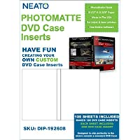 Neato PhotoMatte DVD Case Inserts - 100 Sheets Makes 100 DVD Case Inserts