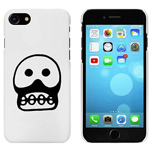 Blanc 'Crâne Effrayant' étui / housse pour iPhone 7 (MC00085581)