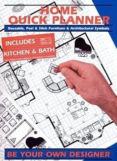 Home Quick Planner Reusable Peel Stick Furniture Architectural Symbols