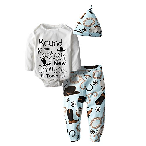[Big Elephant Baby Boys' 2 Piece Graphic Long Sleeve Pants Clothing Set with Hat H33] (Christmas Outfits Baby)