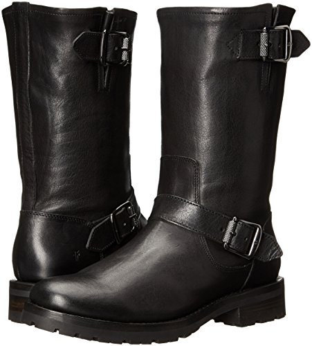 FRYE Women's Natalie Mid Lug Engineer Boot,Black,7 M US