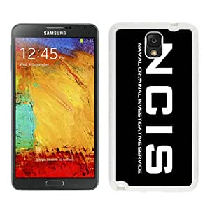 Personalized Custom Picture Samsung Galaxy Note 3,Ncis logo 1 White Samsung Galaxy Note 3 Custom Picture Phone Case
