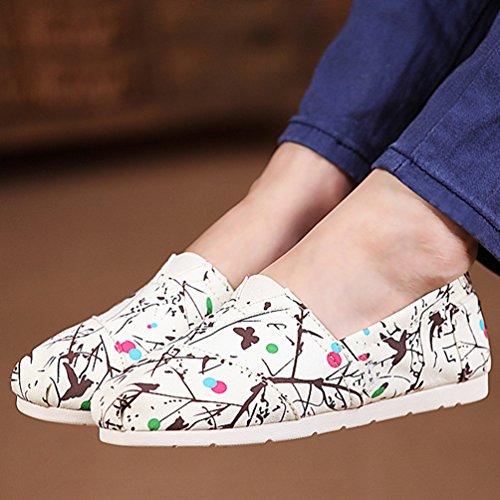 Durevole Slip Stampato Casuale Donna Flats On Beige Dooxii Loafers Basse Moda Espadrillas Scarpe 5xqznYw4