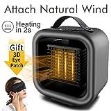 Space Heater Home Fan Heater Combo Portable Electric Desk Heater Mini Quiet PTC