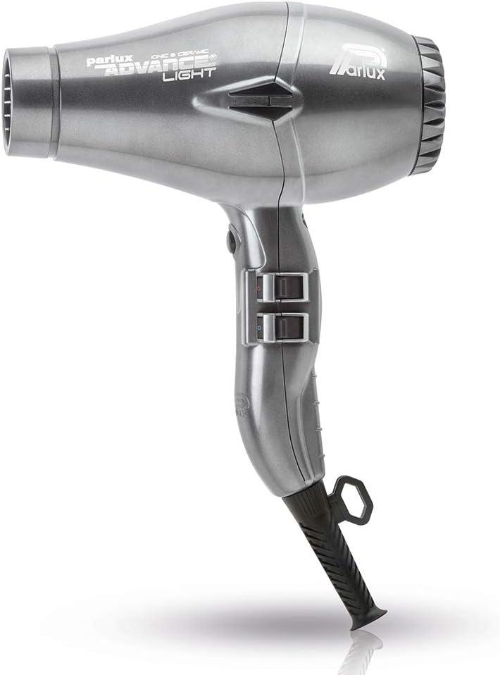 Parlux Advance Light - Secador de pelo ionico, Gris (Graphite)