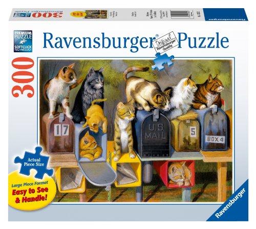 Ravensburger Cat's Got Mail Jigsaw Puzzle, Large Format, 300-Piece