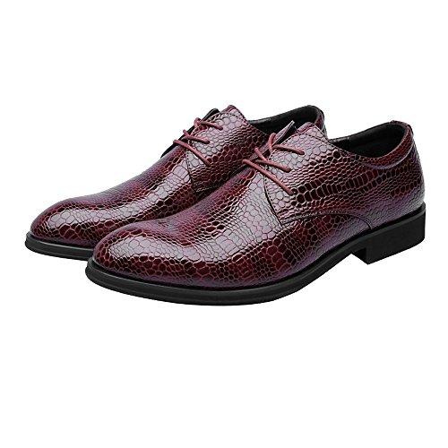 traspiranti da 2018 Dimensione Color Stringate da Pelle pelle Stringate in lavoro superiori EU Uomo shoes 37 Scarpe PU Jiuyue uomo Marrone Texture pelle di Vino Scarpe in coccodrillo aqSwUcf5
