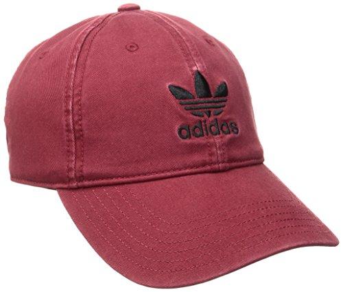 adidas Men's Originals Relaxed Strap Back Cap, One Size, Collegiate Burgundy