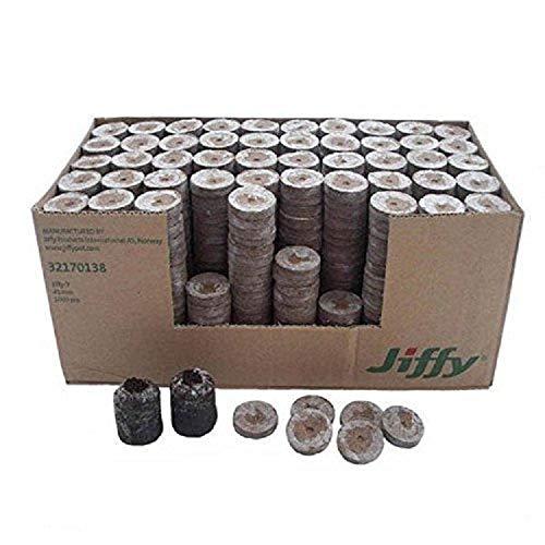 Jiffy 7 torba pellet crescere giardinaggio per semina confezione da 1000 41 mm