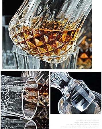 Decantador de botella de vino, copa de whisky creativa, traje de copa de vino, cristal transparente para el hogar, vino tinto, copa de champán, botella de vino vacía, separador de vino, decantador (c