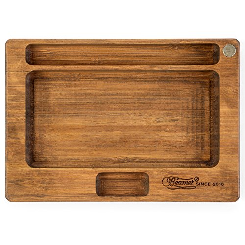 Beamer Juju All-Natural Bamboo Rolling Tray - Original Finish - 7 X 5 inch by Beamer