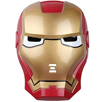 LICENCIA Iron Man 3 Movie Casco Máscara de juguete con luz LED Up Eyes