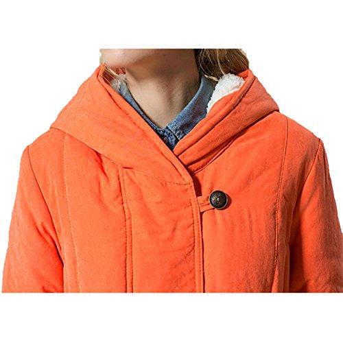 lunghe Orange Donna Kuuboo Maniche Cappotto PqfAZE