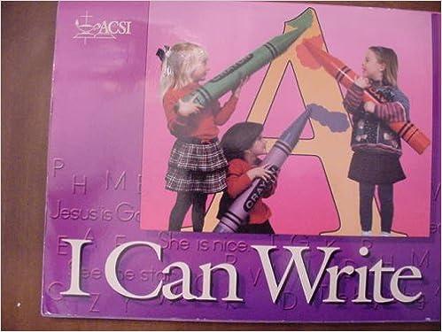 Amazon.com: ACSI I Can Write Kindergarten Seires B: Dr ...
