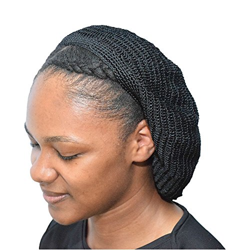 Always Eleven Crochet Knit Lightweight Beret Hat (Black (2 Pack))