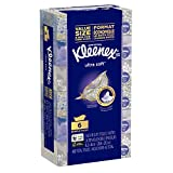 Kleenex Ultra Soft Facial Tissues, Flat Box, 70 Tissues per Box, 6 Pack (420 Tissues Total)