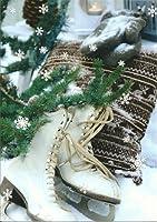 Postkarte ~ Weihnachten Winter Schlittschuhe