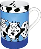 Konitz 10-Ounce Animal Stories Cow Mugs, Assorted, Set of 4