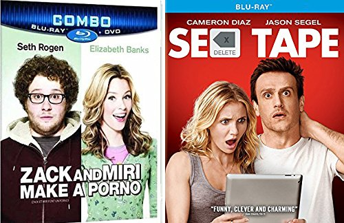 Sex Tape + Zack & Miri Make a Porno Comedy Feature Blu Ray Fun Double Feature movie Set Combo Edition Seth Rogen