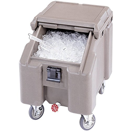 Cambro (ICS100L191) 100 lb Capacity Ice Caddy - Granite Gray Food Transport Cart