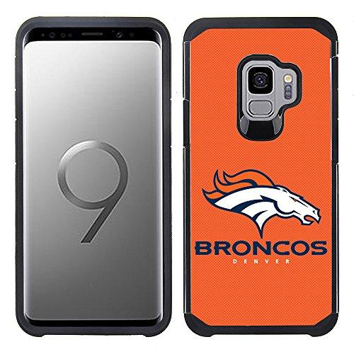 - Prime Brands Group Textured Team Color Cell Phone Case for Samsung Galaxy S9 - NFL Licensed Denver Broncos
