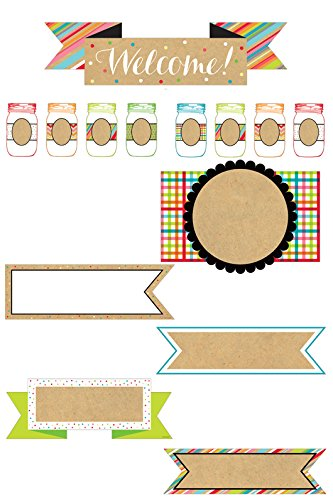 Renewing Minds #TooCute Welcome/Blank Signs Bulletin Board Sets, Set of 38 Pieces
