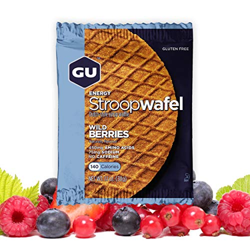 - GU Energy Stroopwafel Sports Nutrition Waffle, Gluten Free Wild Berry, 16-Count