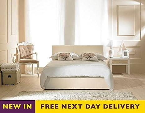 Amazing Amazon Com Emporia Beds 4Ft Small Double Madrid Ivory Faux Inzonedesignstudio Interior Chair Design Inzonedesignstudiocom