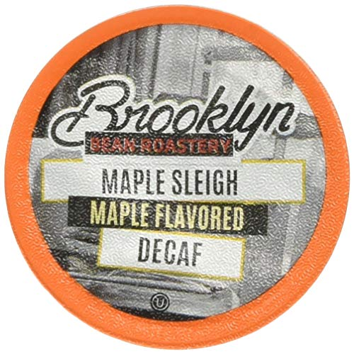 Brooklyn Beans Maple Sleigh Decaf Coffee Pods, Compatible with 2.0 K-Cup Brewers, 40 Count ()