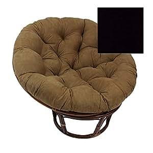 Rattan papasan 42 inch chair with cushion for Black papasan chair cushion