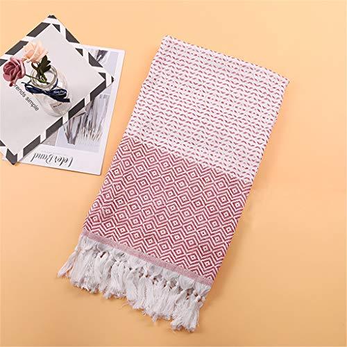 Euone Home Textiles, Turkish Cotton Bath Beach Spa Sauna Yoga Fringed Jacquard Towel