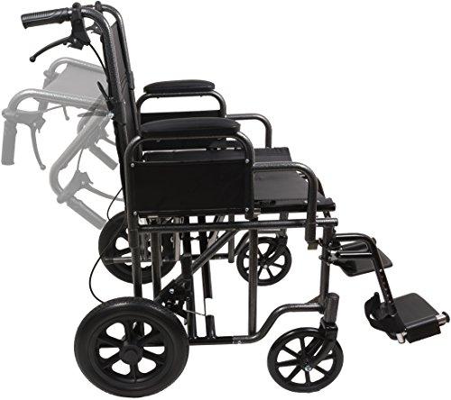 Amazon.com: Heavy Duty Transporte Silla Negro Oversized ...