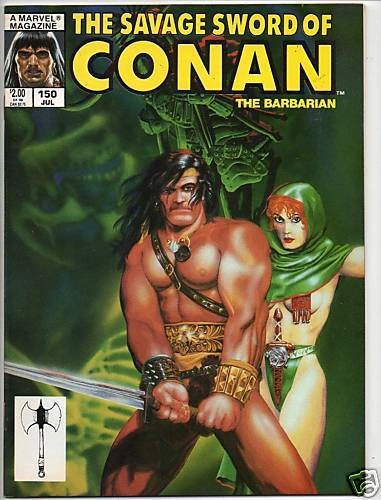SAVAGE SWORD OF CONAN #150 MICHAEL GOLDEN COVER ART