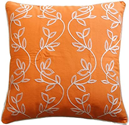 Amazon.com: Vine bordado con ribete decorativo Throw ...