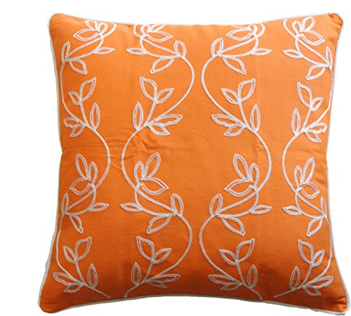 Blue Dolphin Vine Embroidery with Piping Decorative Throw Pillow COVER 18