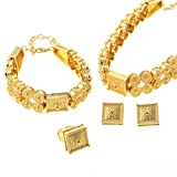 Ethiopian Jewelry Sets Choker Necklace Bracelet Ring Earring Sets Africa Wedding Bridal Jewelry Set
